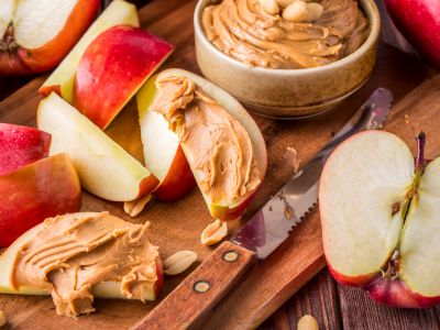 Apples and peanut butter are the national foods for November